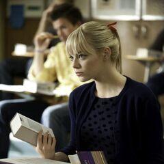 Gwen in class.