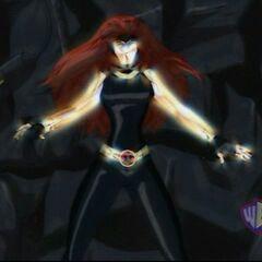 Jean turns into the Phoenix.
