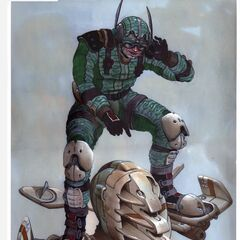 Unused concept art for Green Goblin.