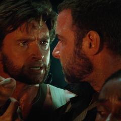 Logan stops Victor from killing innocents