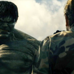 Hulk stares down Blonsky.