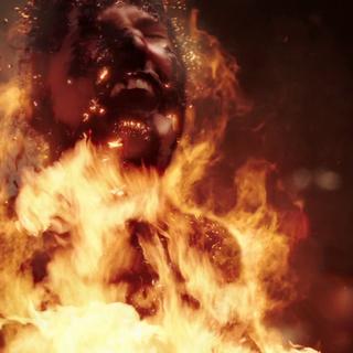 Debbie being burnt to death.