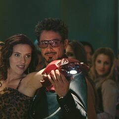 Natasha with Tony