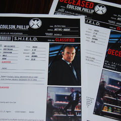 SHIELD Agent Coulson's file.