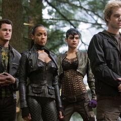 Pyro and The Brotherhood members.
