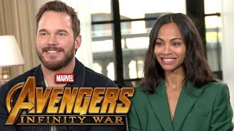 'Avengers Infinity War' Chris Pratt and Zoe Saldana (FULL INTERVIEW)