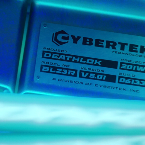 Name of Project Deathlok on Mike's Cybertek Prosthetic Leg.