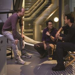 Behind the scenes with Whedon, Ruffalo, & Downey Jr.
