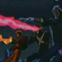 Cyclops fights Apocalypse's forces.