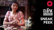 Marvel's Cloak & Dagger Season 2 Finale Sneak Peek Evita Reads the Cards Freeform
