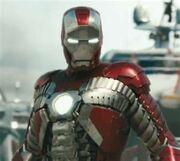 Iron man in briefcase suit