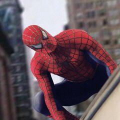 Spider-Man on a Train.
