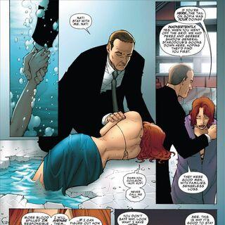 Coulson saves Natasha from drowning