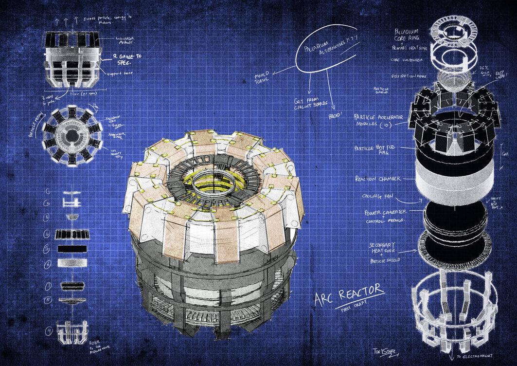 image - arc reactor blueprintsfongsaunder-d4tttee | marvel