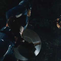 Thor and Captain America fight.