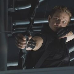 Hawkeye under Loki's control (promotional still)