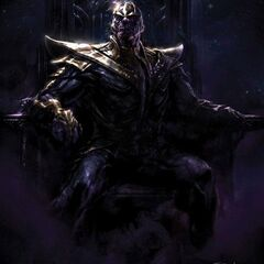 Concept art for Thanos