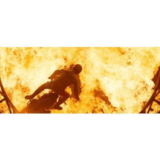 Barton Blaze falling to his death.