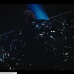 Dr. Hall submersed in Gravitonium