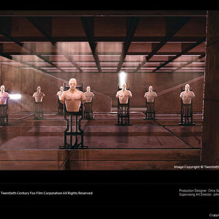 Concept art for the Danger Room prototype as it appears in <i>X-Men: First Class</i>