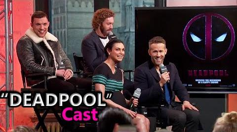 "Ryan Reynolds, TJ Miller, Ed Skrein & Morena Baccarin Interview ""DEADPOOL"" Movie Cast Feb 9, '16"