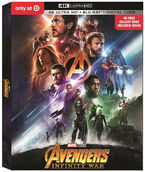 Avengers Infinity War Target Exclusive 4K Blu Ray