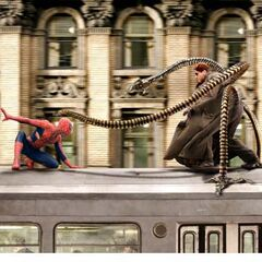 Doctor Octopus fighting <a href=