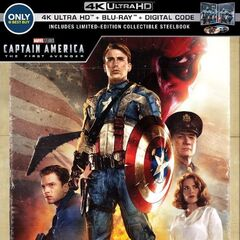 Captain America: The First Avenger Best Buy Exclusive Steelbook 4K Blu Ray