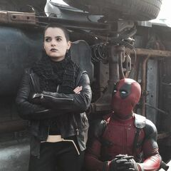 Deadpool and Negasonic Teenage Warhead.