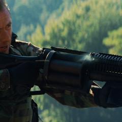 Blonsky firing at the Hulk