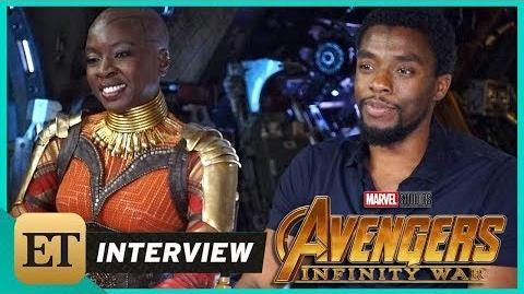 'Avengers Infinity War' Chadwick Boseman and Danai Gurira (FULL INTERVIEW)