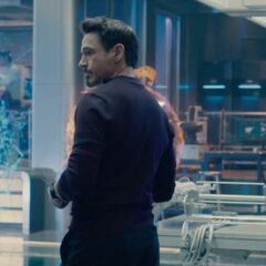 The Scepter being experimented on by Tony Stark.