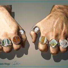 Concept Art of Mandarin's rings.