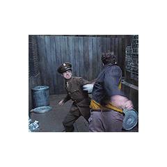 Bucky defending Steve from bullies.