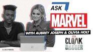 Aubrey Joseph & Olivia Holt answer YOUR Marvel's Cloak & Dagger questions! Ask Marvel