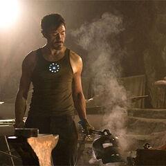 Tony working in captivity.