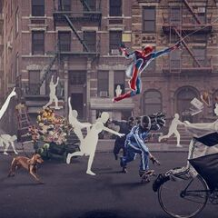 Advertisement for a new Sony Camera featuring Spider-Man.