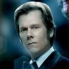 Sebastian with his trademark tuxedo