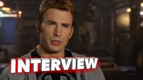 """Marvel's Avengers Age of Ultron Chris Evans """"Steve Rogers Captain America"""" Interview"""