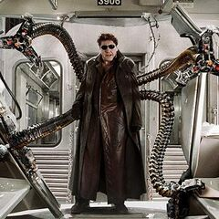 Doctor Octopus boards the train.