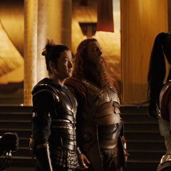 Sif beseeches Loki to end Thor's banishment.
