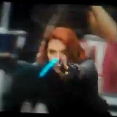 Black Widow in action.