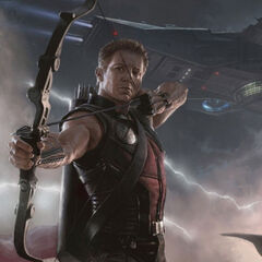 Hawkeye artwork shown at Comic Con.