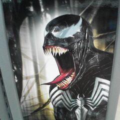 Venom roaring at his prey