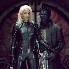 Nightcrawler assisting Storm.