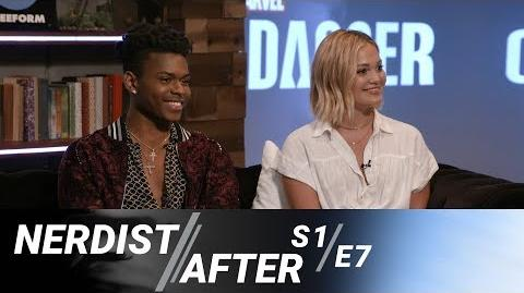 Olivia Holt & Aubrey Joseph Discuss Their Superpowers - Nerdist After Marvel's Cloak & Dagger S1E7