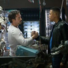 Tony with Rhodes.