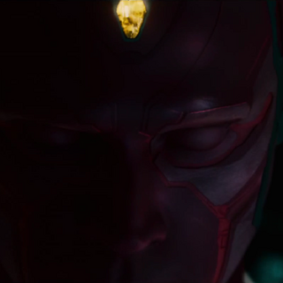 Mind Stone in Vision's forehead.
