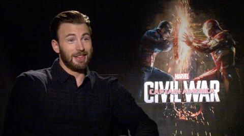 CAPTAIN AMERICA CIVIL WAR uncensored interviews - Evans, Stan, Mackie, Boseman, Russo, Bettany