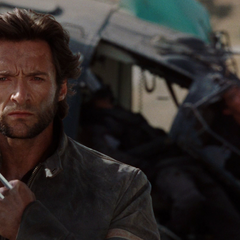 Logan walks away from the dying Agent Zero